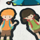 Nice Size Pieces - Camping Kids Felt Story Board Set by Candyland Studio