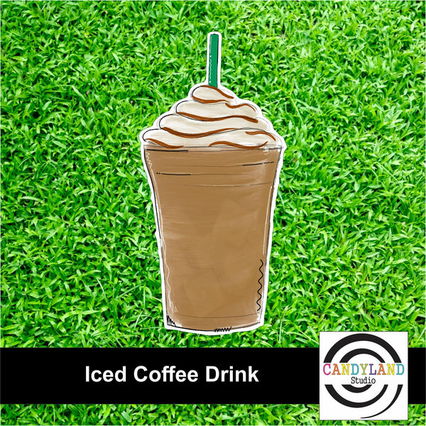 Iced Coffee Yard Sign