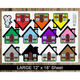 Little Mouse in the House Flannel Board Felt Story Set