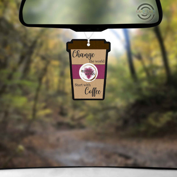 Momma's Meals Latte Cup Air Freshener