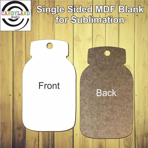 Mason Jar MDF Blanks - Single Sided