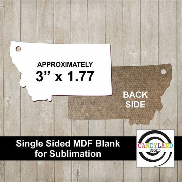 Montana State MDF Blanks - Single Sided