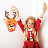 Kids love our STICKAMAJIGGER™ Poster Game - Stick the Red Nose on the Reindeer