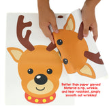 STICKAMAJIGGER™ Poster Game - Stick the Red Nose on the Reindeer - Smooth Wrinkles