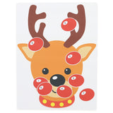 Fun Christmas Activity - STICKAMAJIGGER™ Poster Game - Stick the Red Nose on the Reindeer