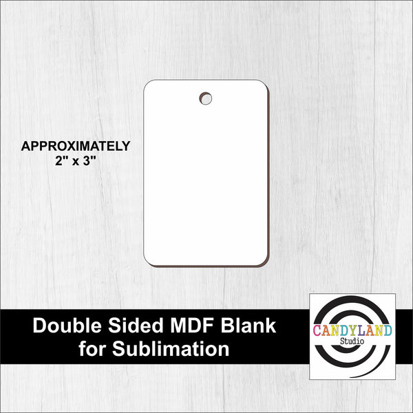Rectangle MDF Blanks - Double Sided
