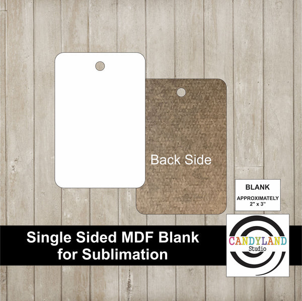 Rectangle MDF Blanks - Single Sided