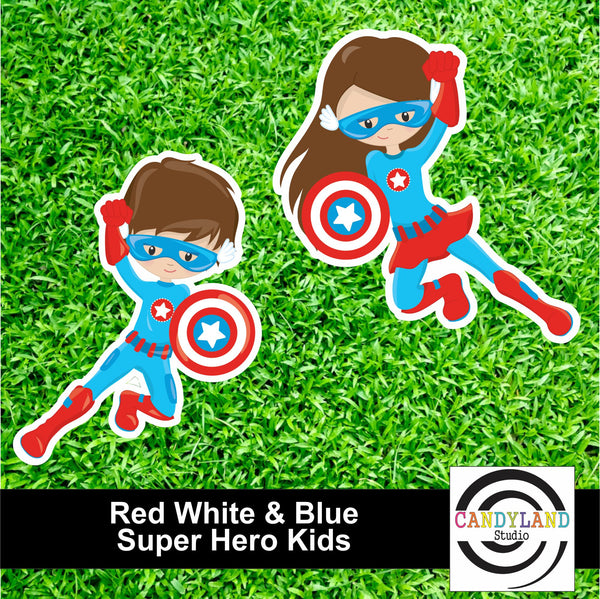 Super Hero Kids - Red White & Blue