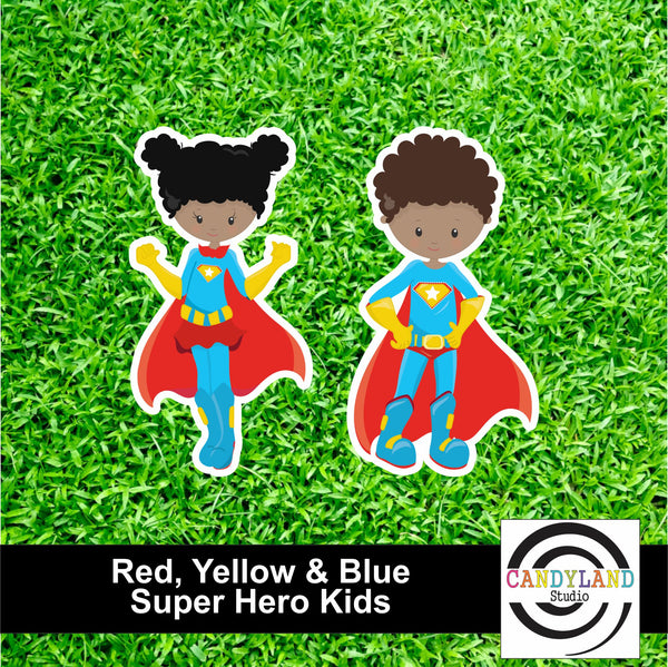 Super Hero Kids - Red, Yellow & Blue