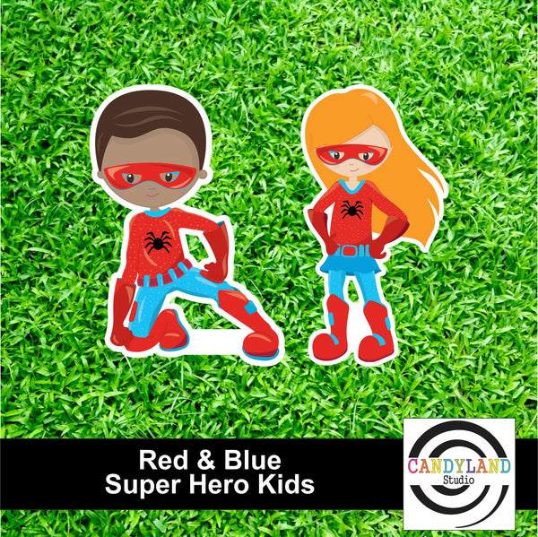 Super Hero Kids - Red & Blue