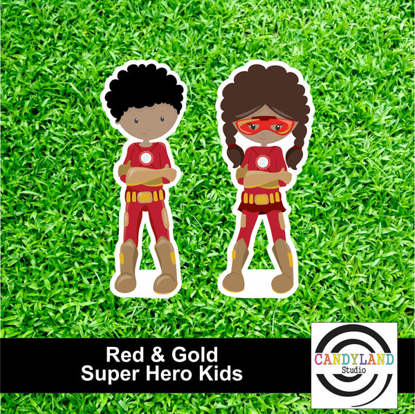 Super Hero Kids - Red & Gold