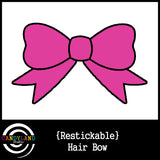Pink Hair Bow Sticker for Baby Skeleton