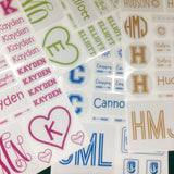 Personalized Name Sticker Assortment