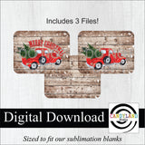 Rustic Red Truck Christmas Tree - Horizontal Rectangle