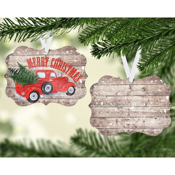 Rustic Red Truck Christmas Tree