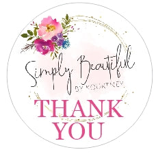 Simply Beautiful by Kourtney - Round Logo Sticker Sheet