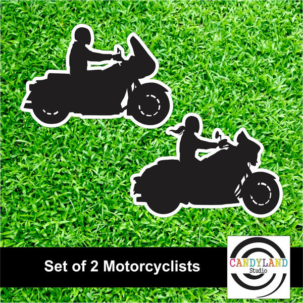 Set of 2 Motorcyclists