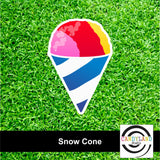 Snow Cone Yard Sign