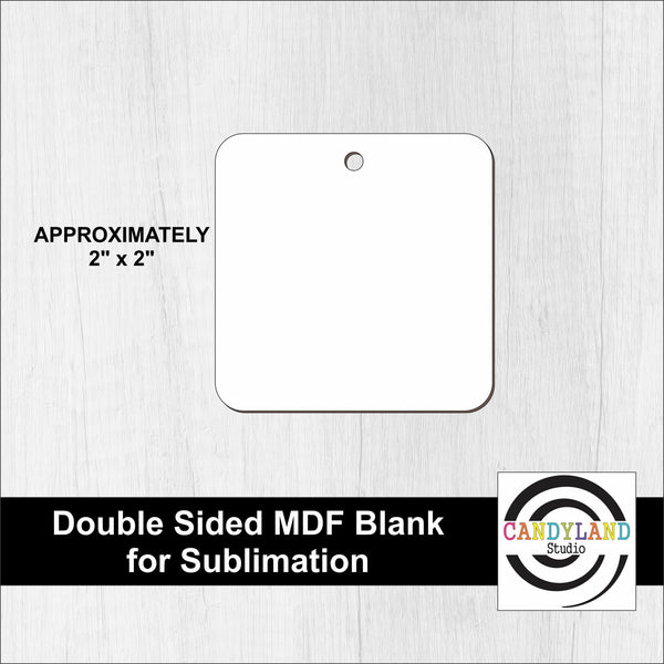 Square MDF Blanks - Double Sided