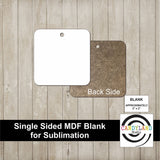 Square MDF Blanks - Single Sided