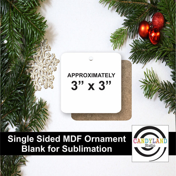 Square Ornament MDF Blanks - Single Sided
