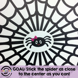 Stick the spider to the center of the web!