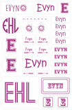 Cute Sun Design - Custom Name Labels