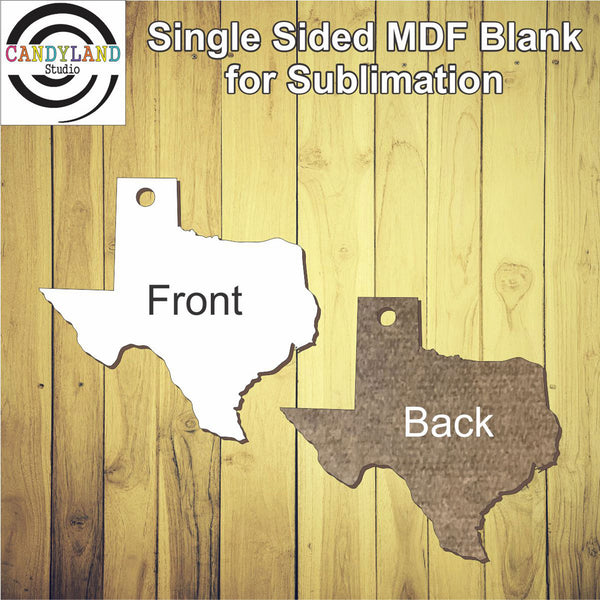 Texas MDF Blanks - Single Sided