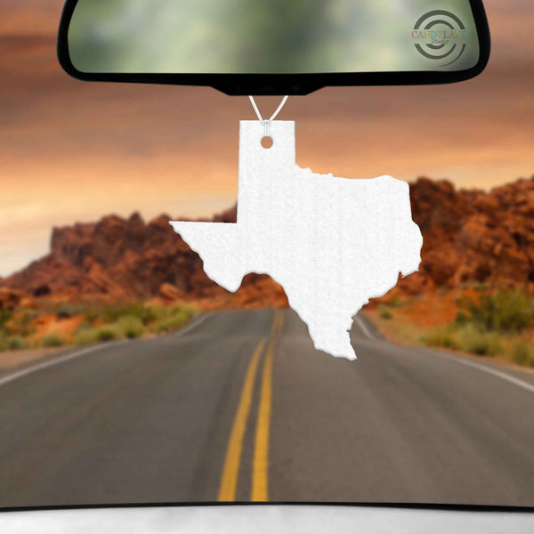 Texas State Felt Blanks - Air Freshener/Ornaments - Set of 5