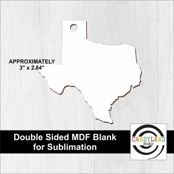 Texas MDF Blanks - Double Sided