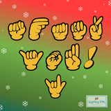 Glove Signs by Candyland Studio - A Manual Alphabet Font