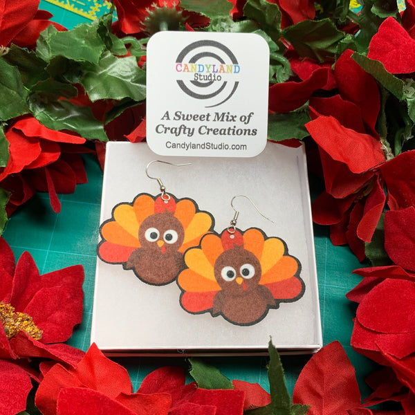 Lightweight Turkey Felt Earrings