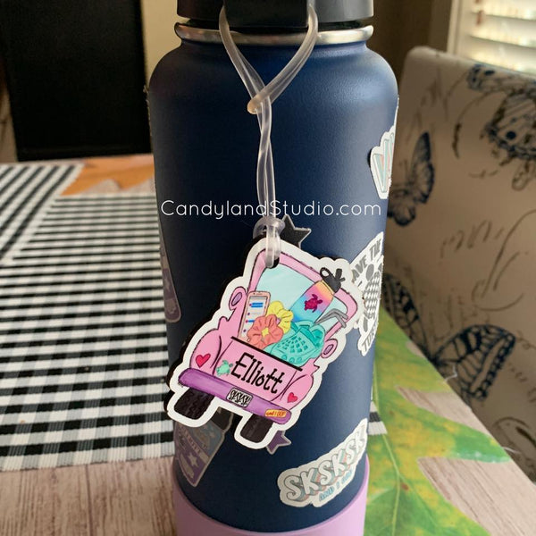 VSCO Girl Truck Water Bottle / Backpack Tag