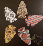 Felt Arrowhead Air Fresheners by TX Southern Belle Shop