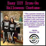 Make your own maternity costume with skeleton iron on decals