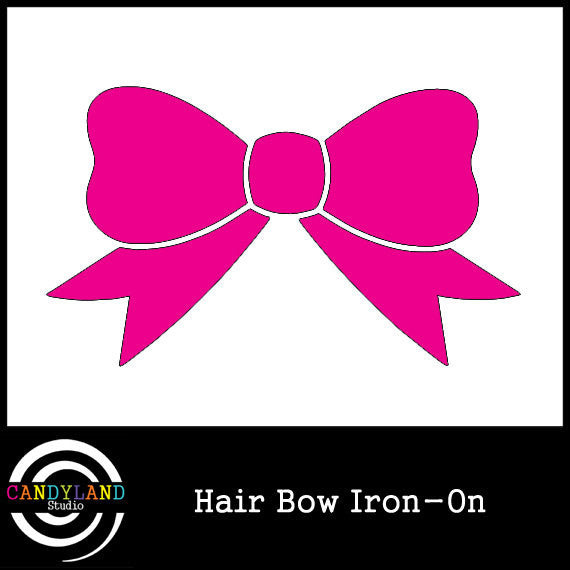 Pink hair bow iron on
