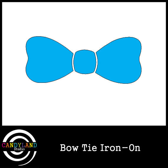 Blue bow tie iron on