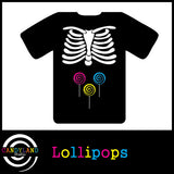 DIY Halloween costume - X-ray skeleton Lollipops