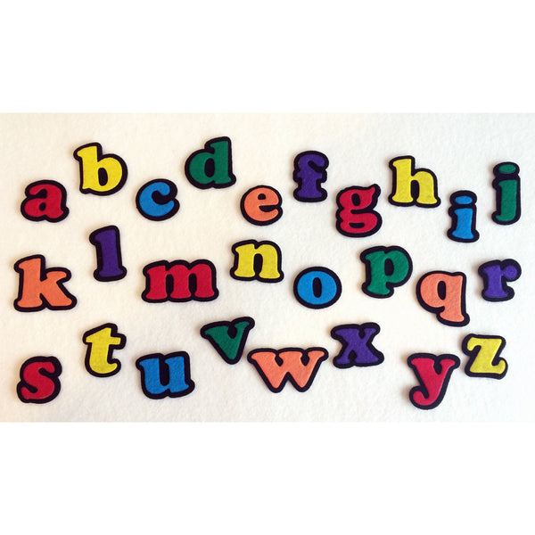 Multi-colored felt set lowercase alphabet