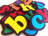 Fun and educational lowercase alphabet felt set