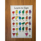 American Sign Language Poster - Peel & Stick