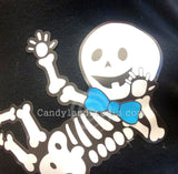 Add a bow tie to your baby skeleton