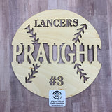 Unfinished Personalized Wooden Baseball Plaque