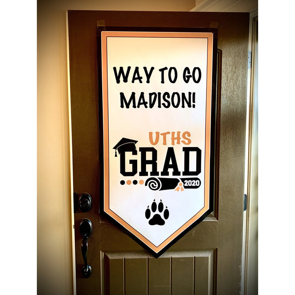 Vertical Graduation Banner