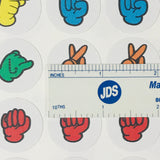 "1"" Round ASL Stickers"