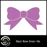 Purple hair bow iron on