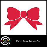 Red hair bow iron on