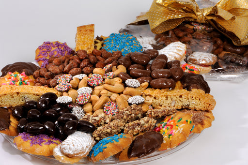Fancy Cookie Nut and Chocolate Tray