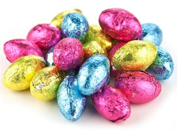 Milk Chocolate Flavored Eggs Foiled