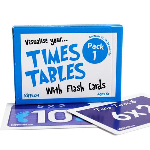 times tables flash cards maths ks1 Pack 1 by Kippson